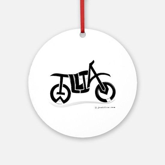 William Black Bike Ornament (Round)