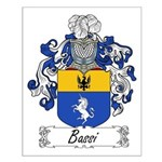 Bassi Family Crest Small Poster