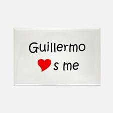 Cute Guillermo Rectangle Magnet
