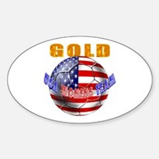 United States Soccer Oval Decal