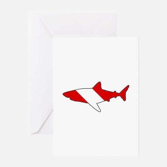 Diving Flag: Shark Greeting Card