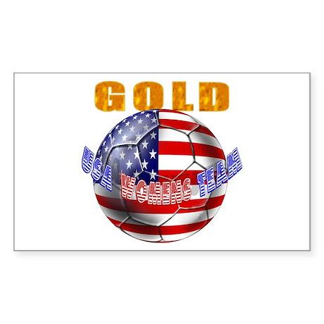 United States Soccer Rectangle Sticker