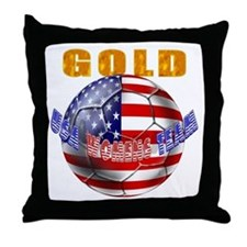 United States Soccer Throw Pillow
