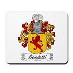 Benedetti Family Crest Mousepad