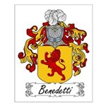 Benedetti Family Crest Small Poster
