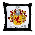 Benedetti Family Crest Throw Pillow