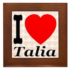 I (Heart) Talia Framed Tile