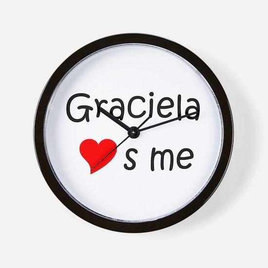 Funny Graciela Wall Clock