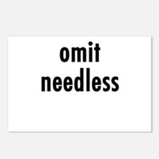 Omit needless Postcards (Package of 8)