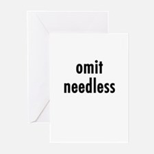 Omit needless Greeting Cards (Pk of 10)