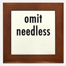 Omit needless Framed Tile