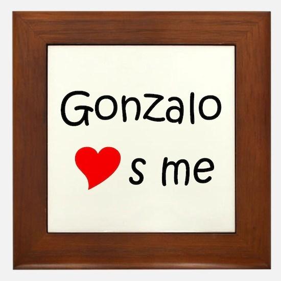 Funny Gonzalo Framed Tile