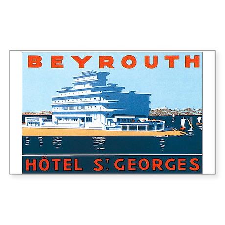 Beirut Lebanon Rectangle Sticker