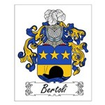 Bertoli Family Crest Small Poster