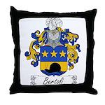 Bertoli Family Crest Throw Pillow