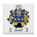 Bertoli Family Crest Tile Coaster