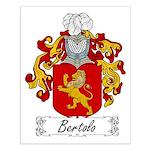 Bertolo Family Crest Small Poster
