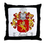 Bertolo Family Crest Throw Pillow