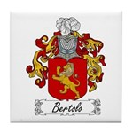 Bertolo Family Crest Tile Coaster