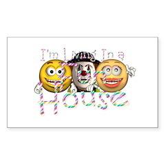 Fun House Sticker (Rectangle 10 pk)