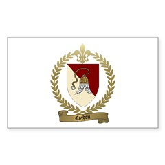 CORDON Family Crest Rectangle Decal
