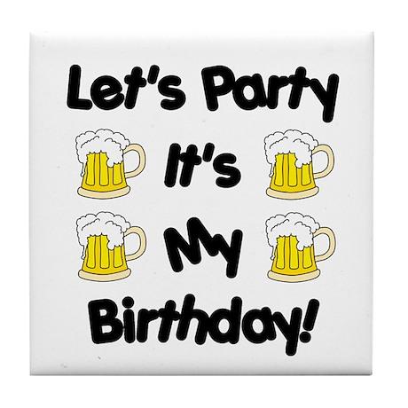 Let's Party! Tile Coaster