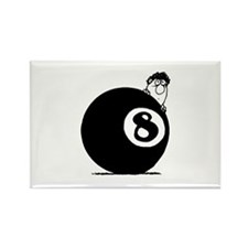 Eight Ball Rectangle Magnet (10 pack)