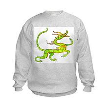 Green Dragon Tattoo Art (Front) Sweatshirt