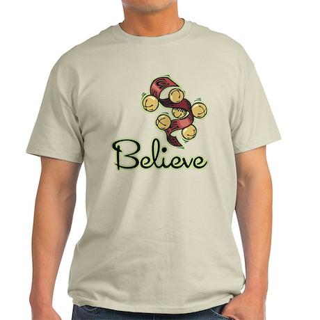 BELIEVE (CHRISTMAS BELLS) Light T-Shirt