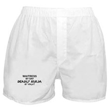 Waitress Deadly Ninja by Night Boxer Shorts