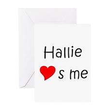 Unique Hallie Greeting Card
