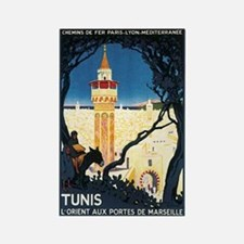 Tunis Tunisia Rectangle Magnet