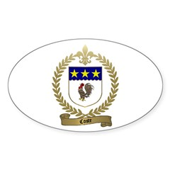 COSTE Family Crest Oval Decal