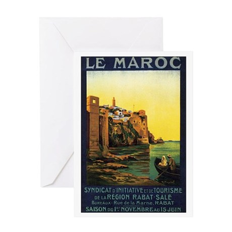 Morocco Maroc Greeting Card