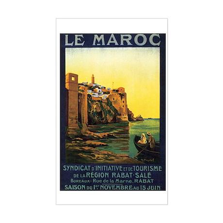 Morocco Maroc Rectangle Sticker