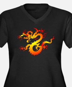 Orange Dragon Tattoo Art (Front) Women's Plus Size