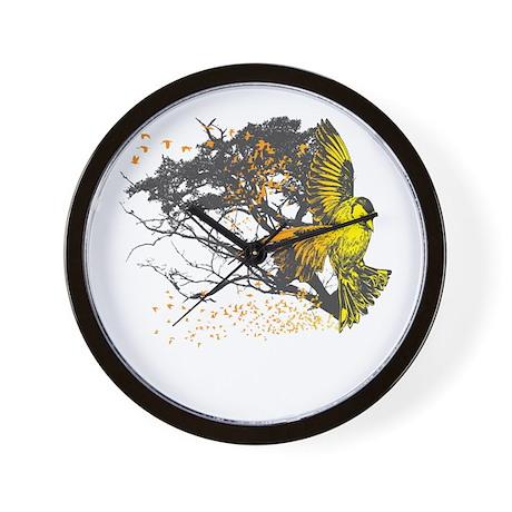 Gold Finch Wall Clock