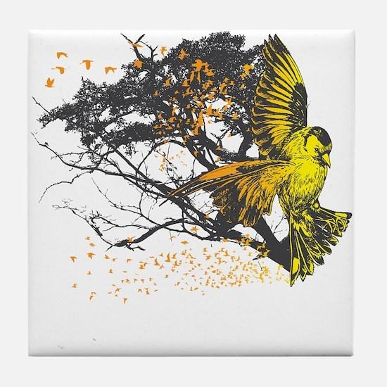 Gold Finch Tile Coaster