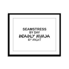 Seamstress Deadly Ninja by Night Framed Panel Prin