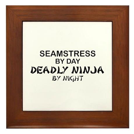 Seamstress Deadly Ninja by Night Framed Tile