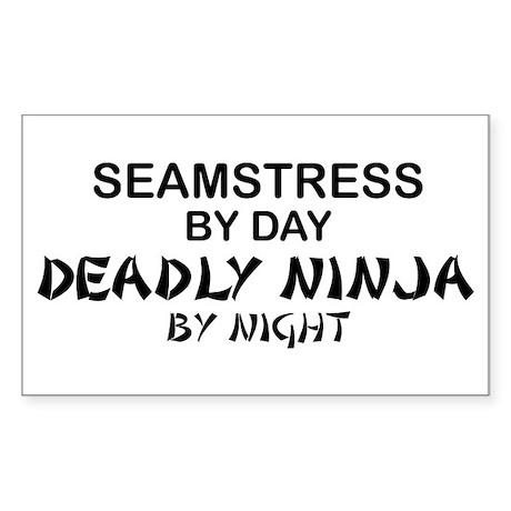 Seamstress Deadly Ninja by Night Sticker (Rectangl