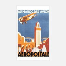 Morocco Maroc Rectangle Decal