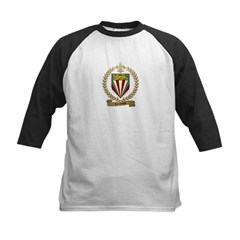 COULOMBE Family Crest Kids Baseball Jersey