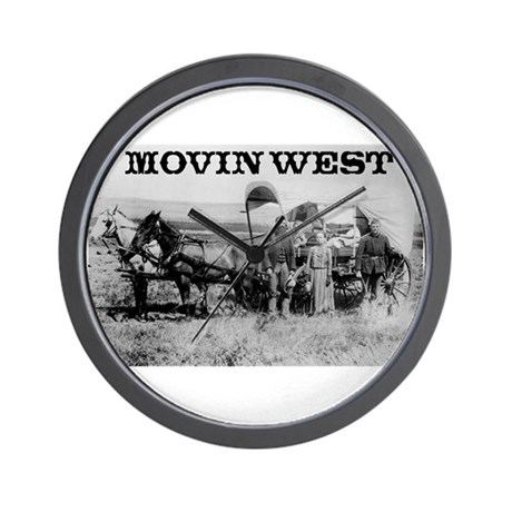 Movin West Wall Clock