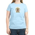 COULOMBE Family Crest Women's Pink T-Shirt