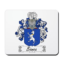 Bianca Family Crest Mousepad