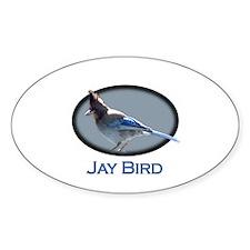 Jay Bird Oval Decal