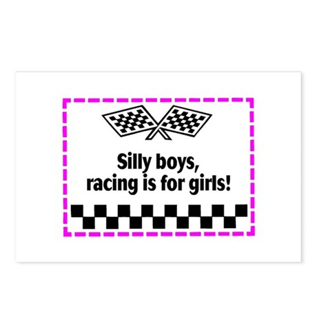 Silly Boys, Racing Is For Girls! Postcards (Packag