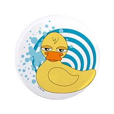"""Rubber Ducky Bubbles 3.5"""" Button"""