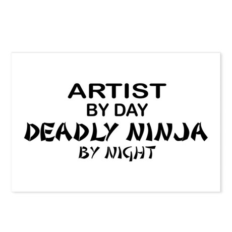 Artist Deadly Ninja by Night Postcards (Package of